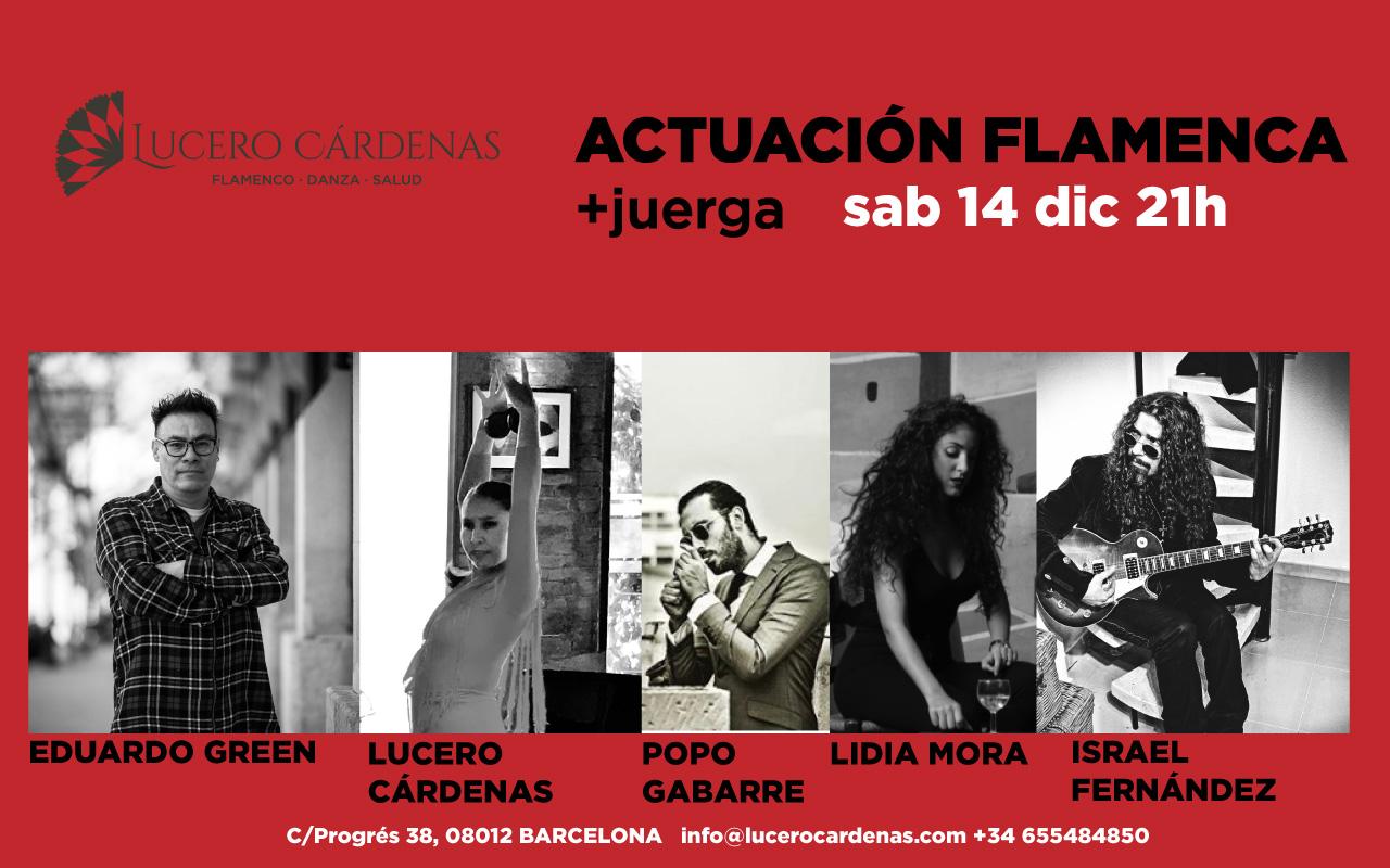 Actuación Flamenca edición diciembre