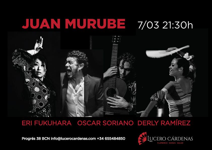 actuación flamenco barcelona Juan Murube