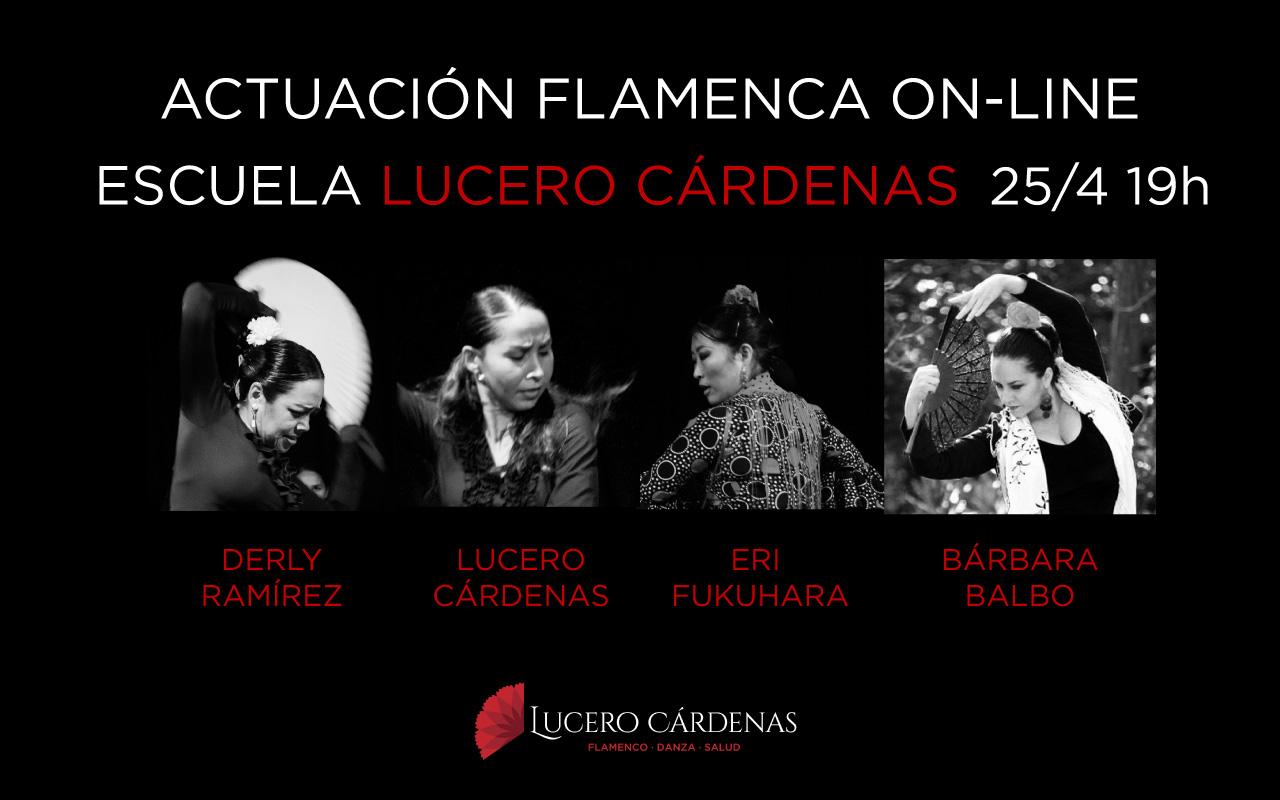 actuación flamenca online de abril