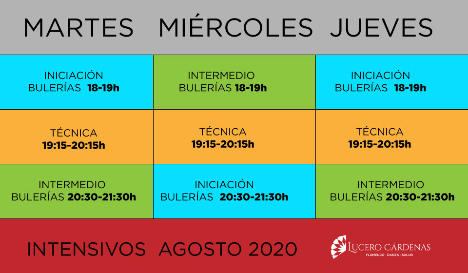 Intensivos flamenco agosto 2020