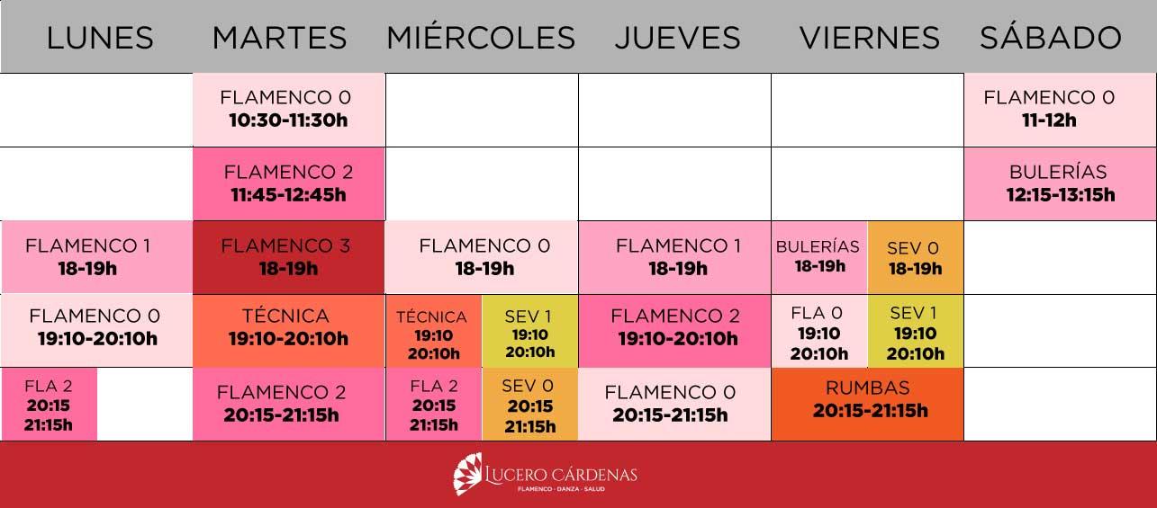 horarios clases flamenco Barcelona
